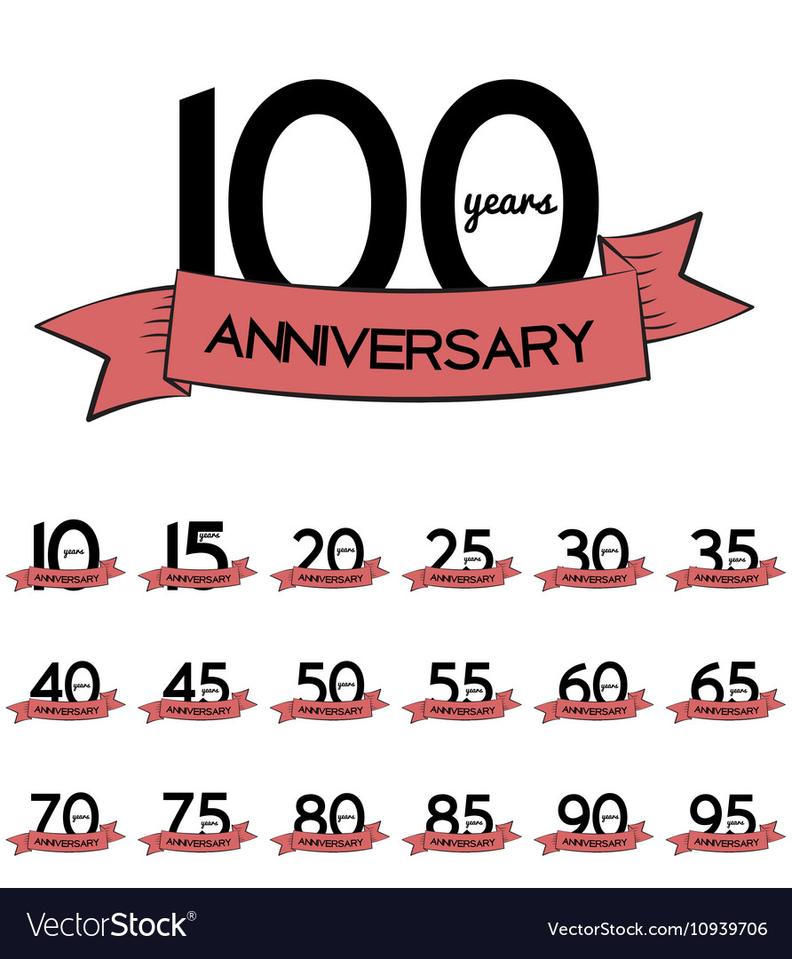Big Collection Set of Template Logo Anniversary