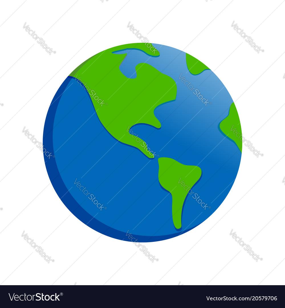 earth cartoon drawing symbol design royalty free vector
