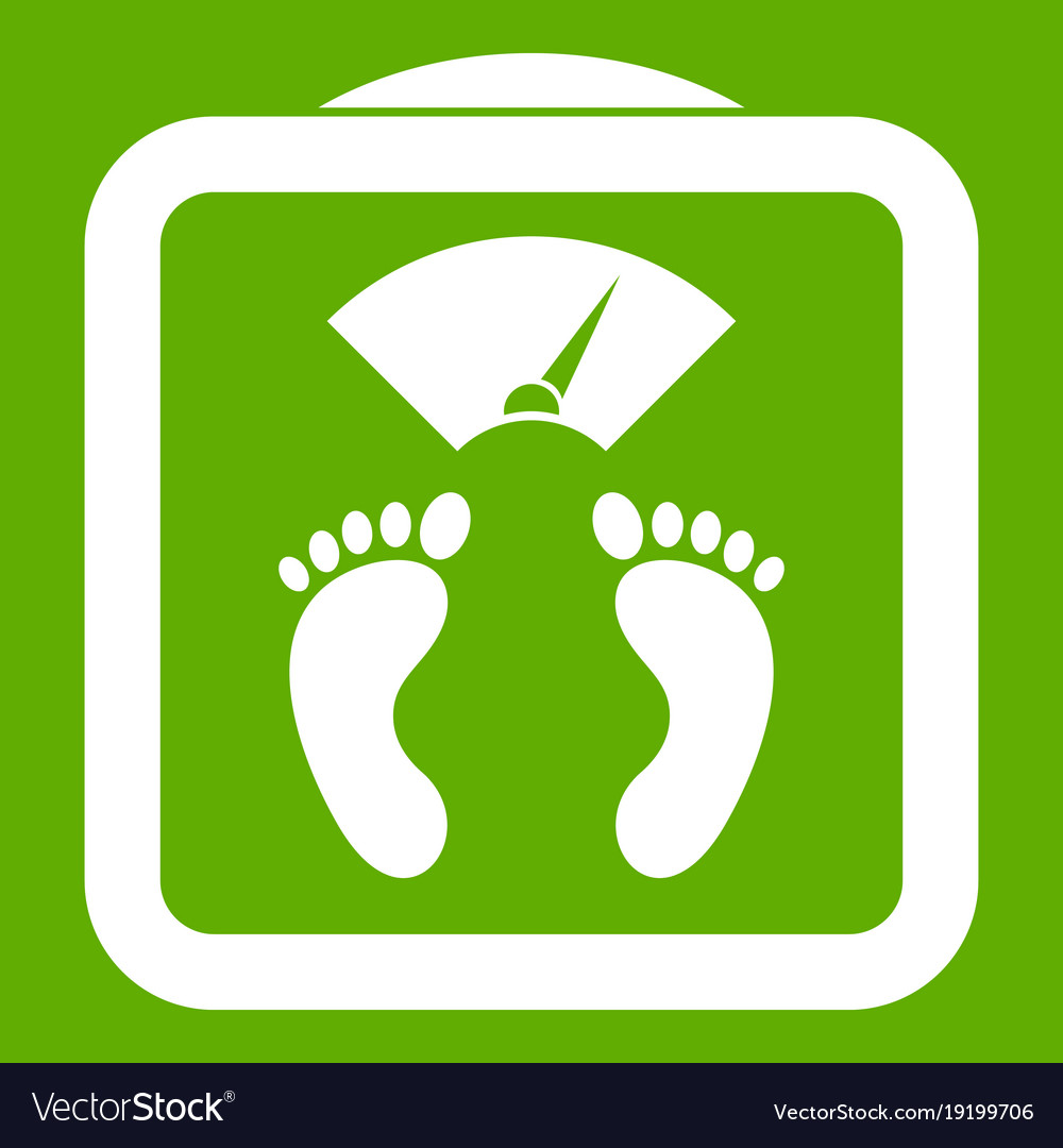 Floor scales icon green Royalty Free Vector Image