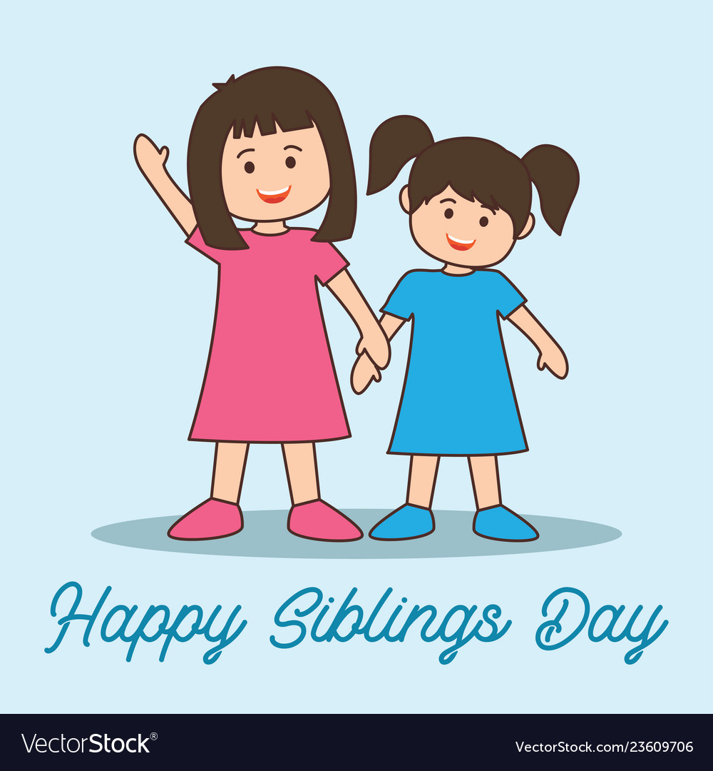 Happy Siblings Day Concept Royalty Free Vector Image