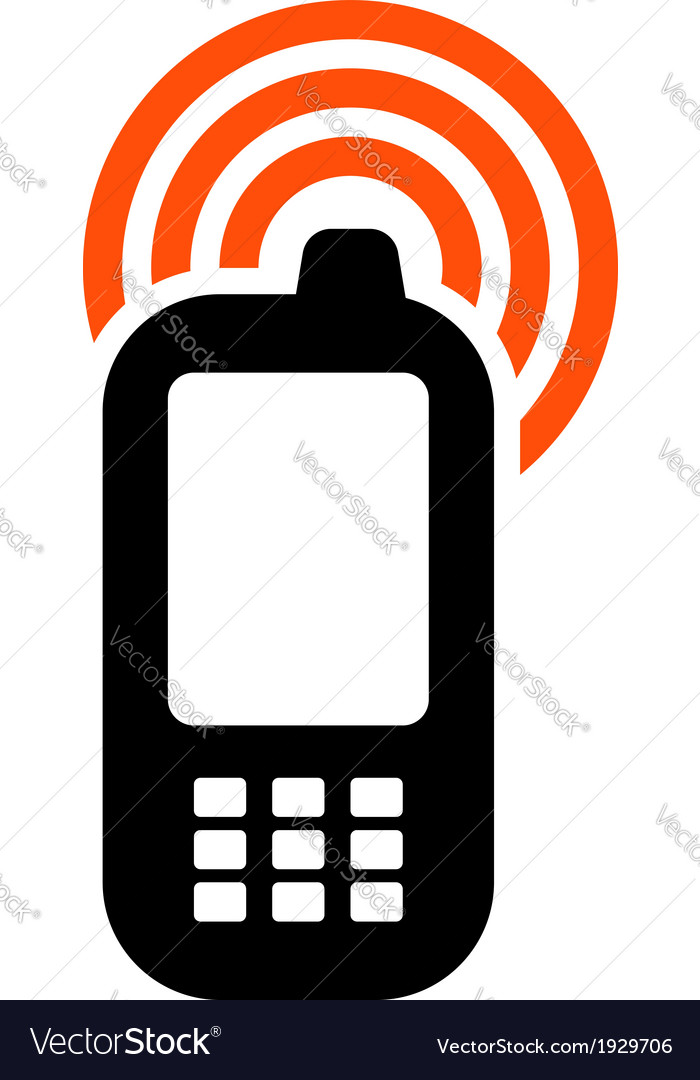 mobile phone icon royalty free vector image vectorstock rh vectorstock com phone icon vector png phone icon vector free download