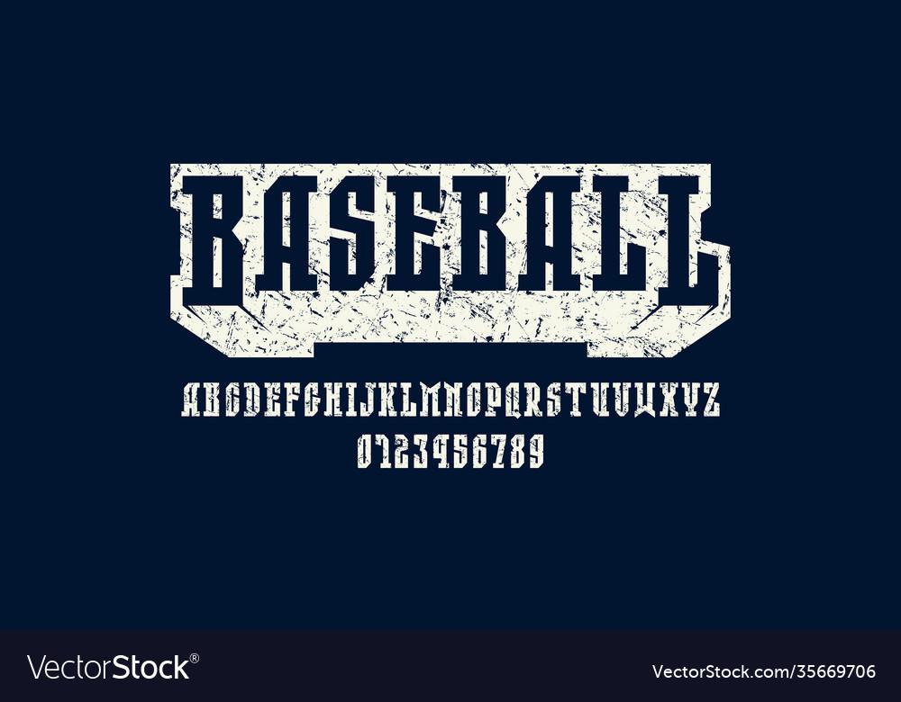 Narrow serif font in sport style