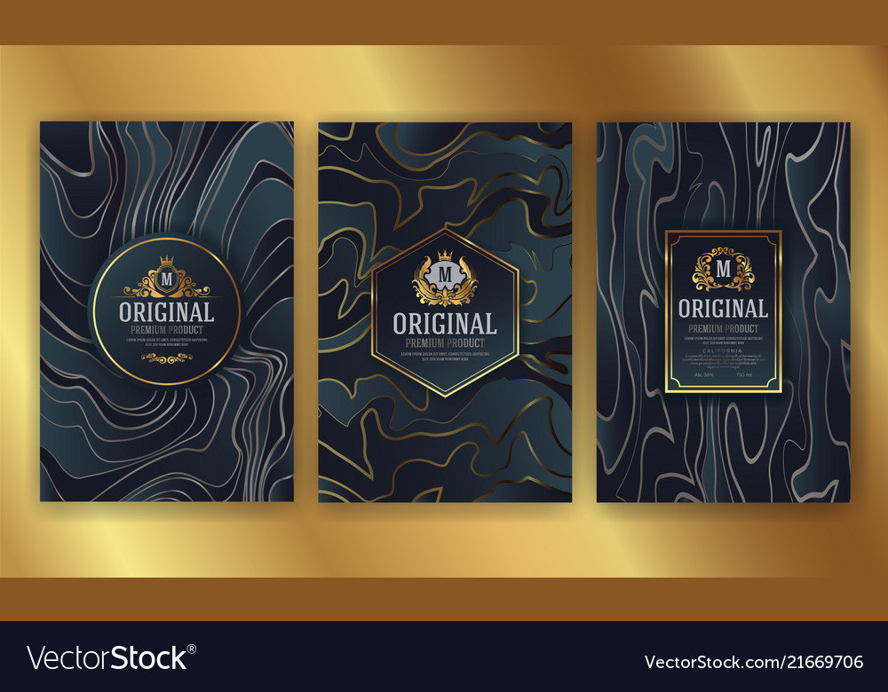 Premium luxury packaging design with heraldic