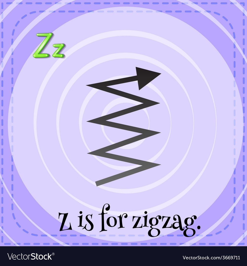 Image result for z for zig zag