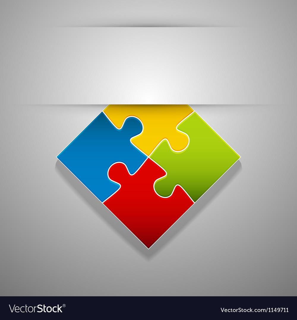 Attach puzzle-sticker