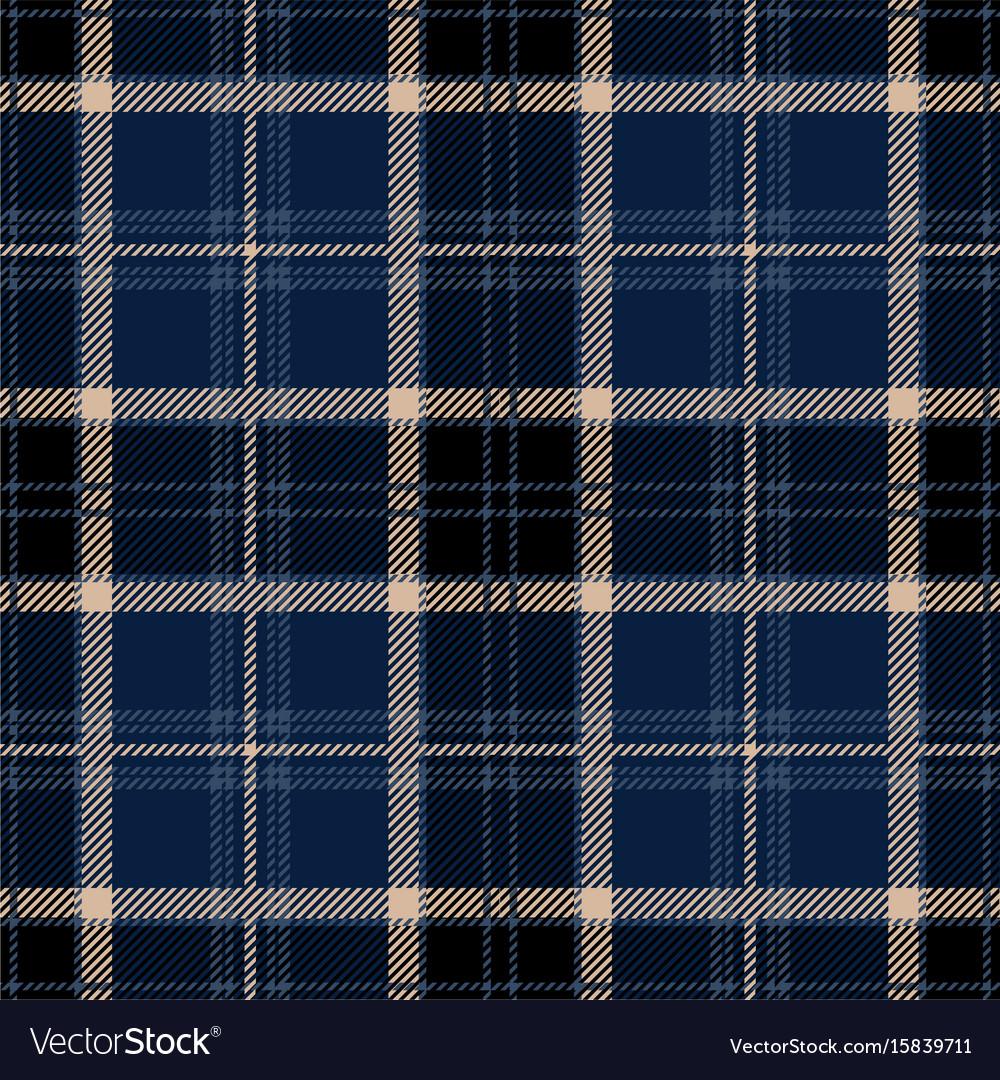 Black tartan plaid seamless pattern vector image