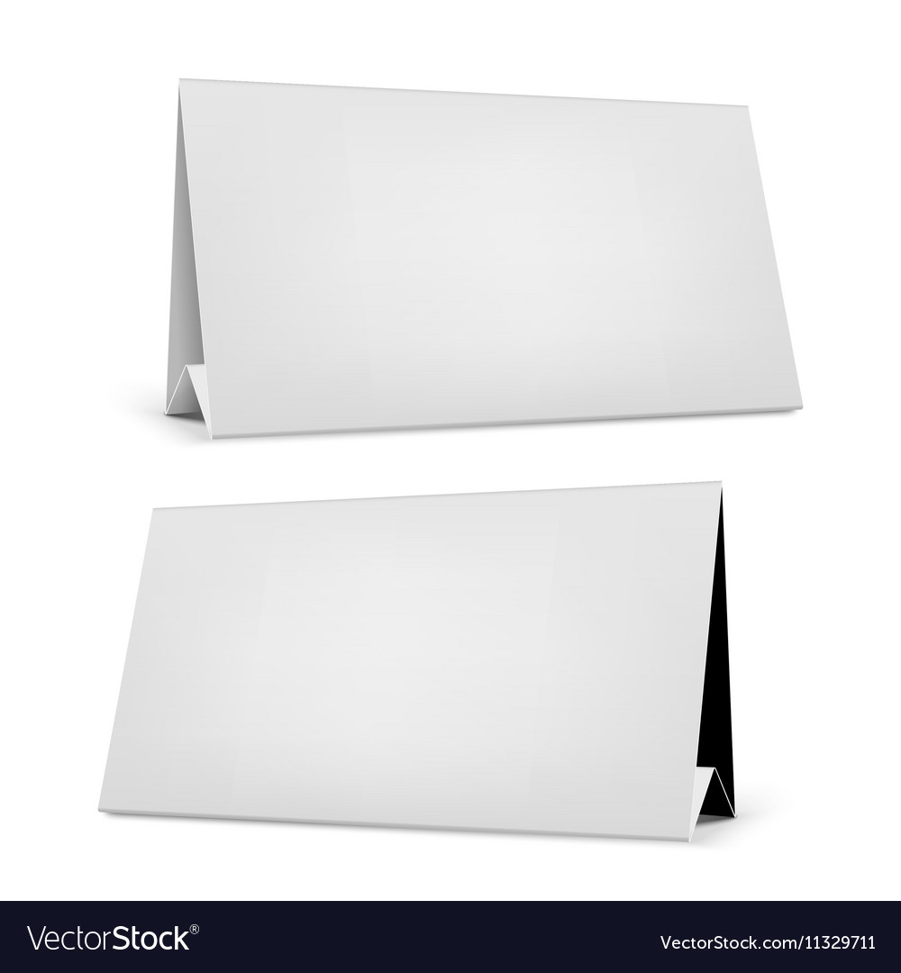 blank desk calendar with stand royalty free vector image