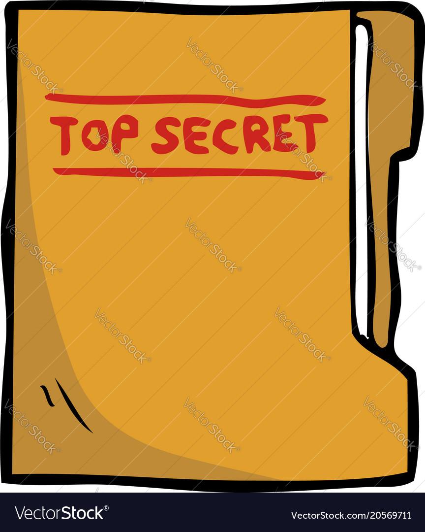 Cartoon doodle secret folder