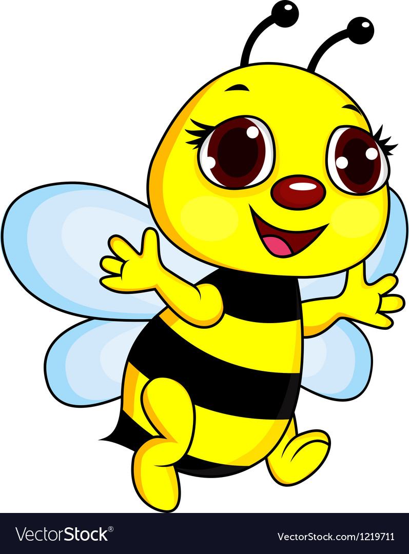 cute funny bee cartoon royalty free vector image