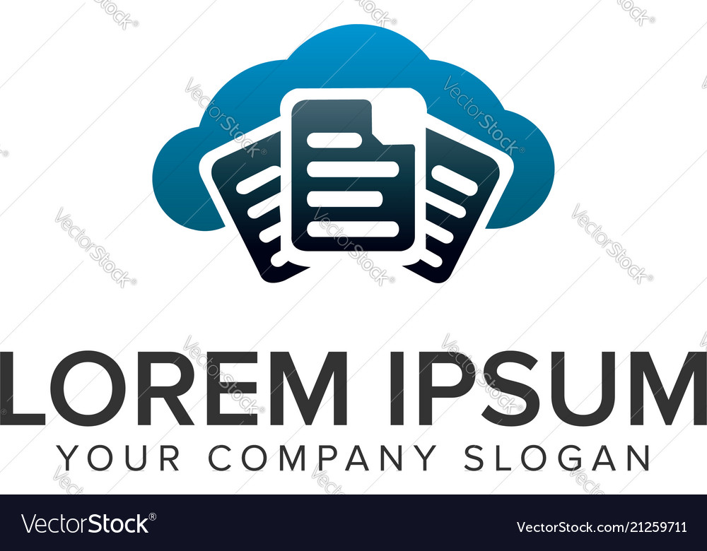 Document cloud logo design concept template fully
