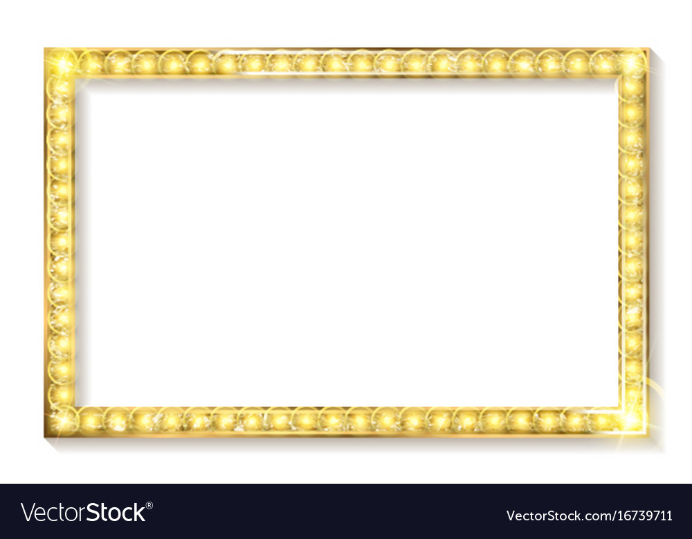 Gold Frame Cinema On A White Background Royalty Free Vector