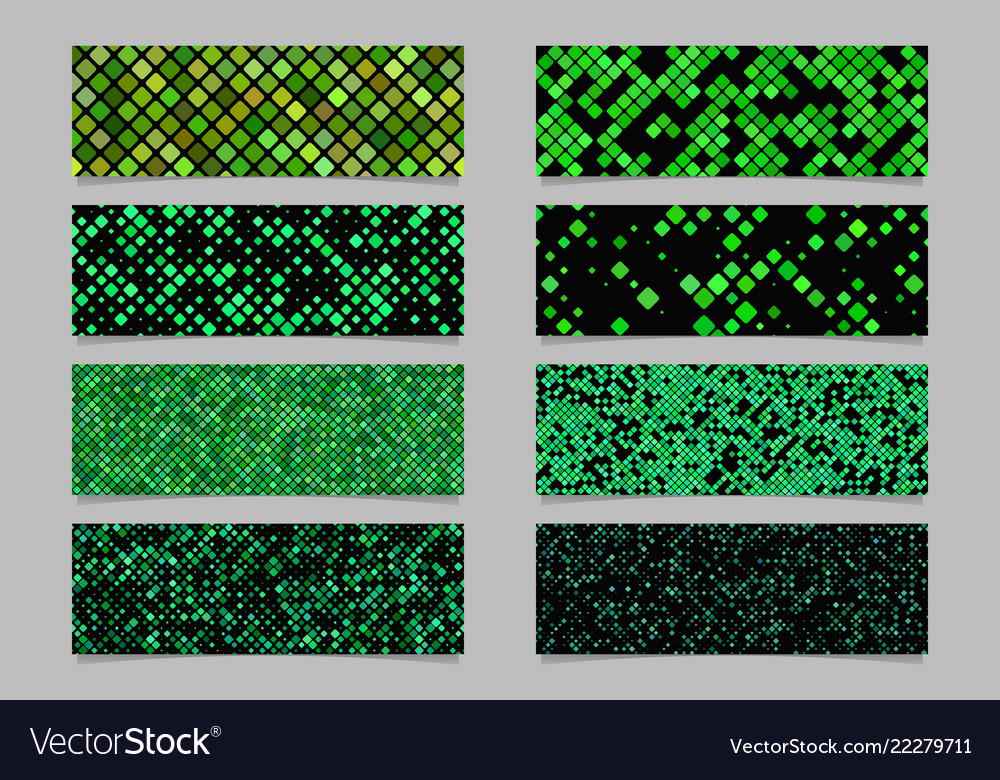 Green abstract modern diagonal rounded square
