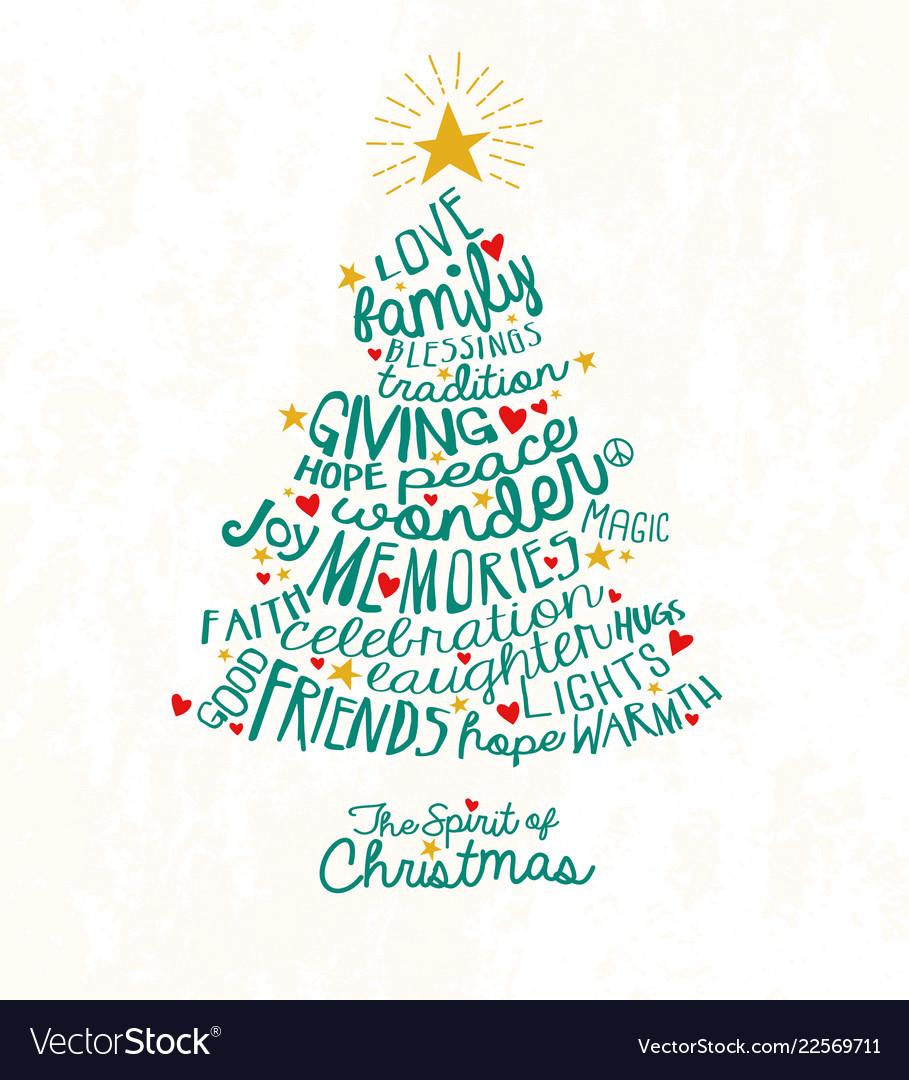 christmas tree words - Kampa