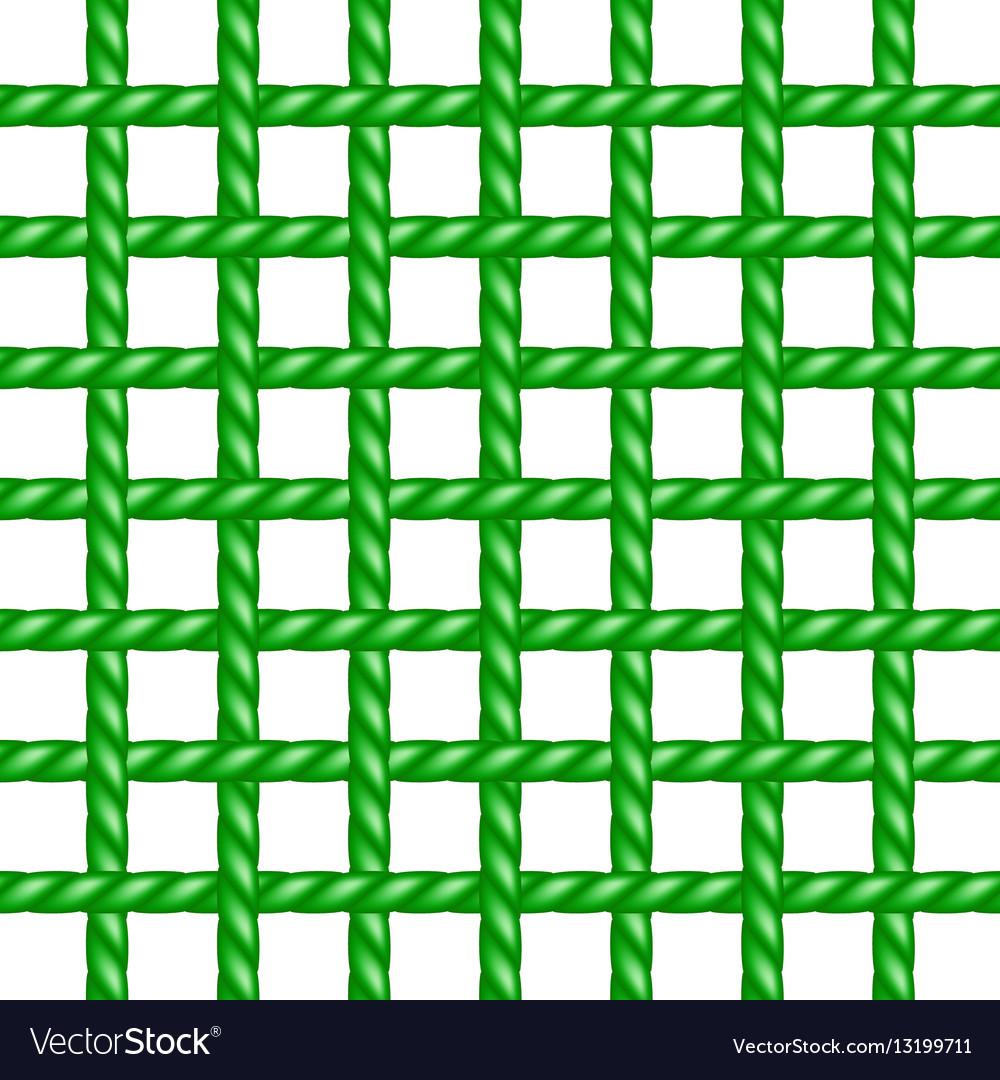 Net of rope in green design vector image