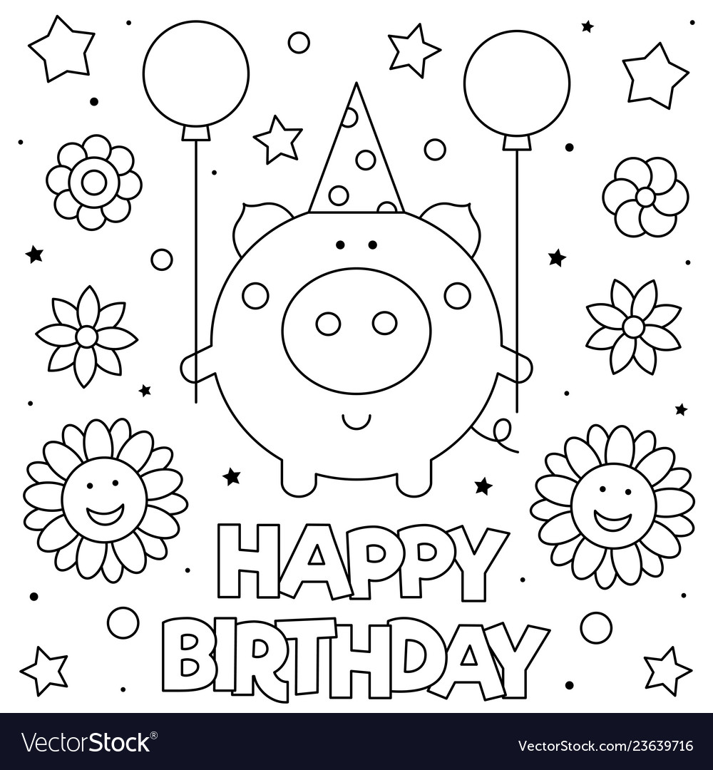 Coloring page pig with