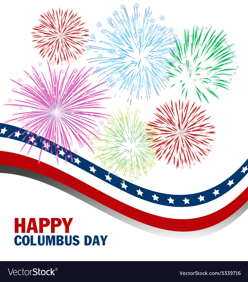 Columbus day celebration design
