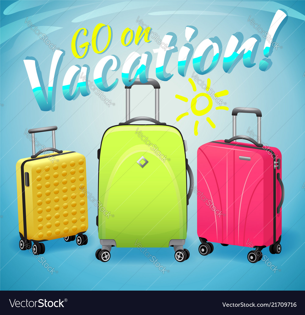 Concept of summer vacation bright multicolored