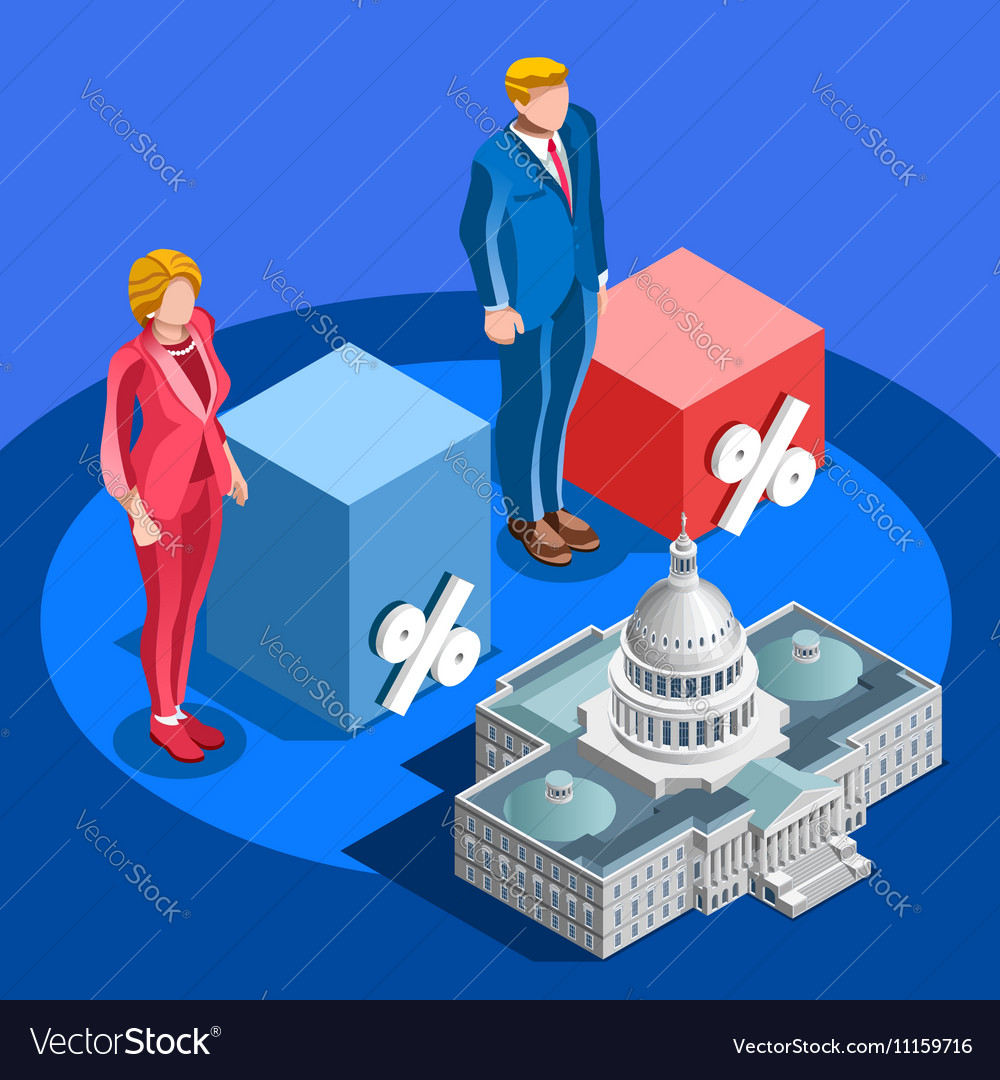 Election Infographic Pools Candidate Isometric vector image