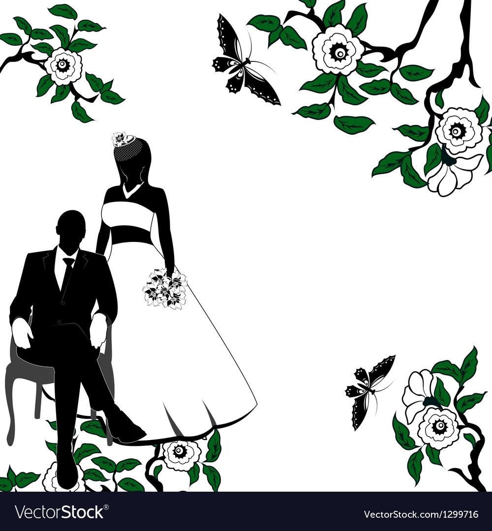 Invitation with Wedding pair