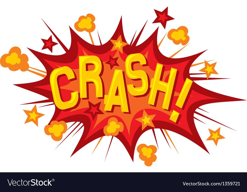 Cartoon - crash vector image