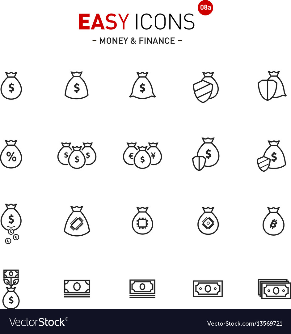 Easy icons 08a money