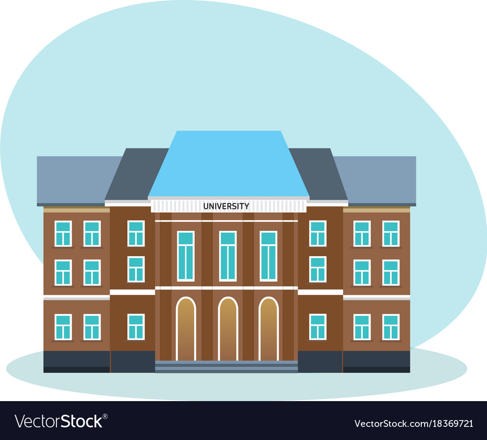 Modern university building educational system vector image