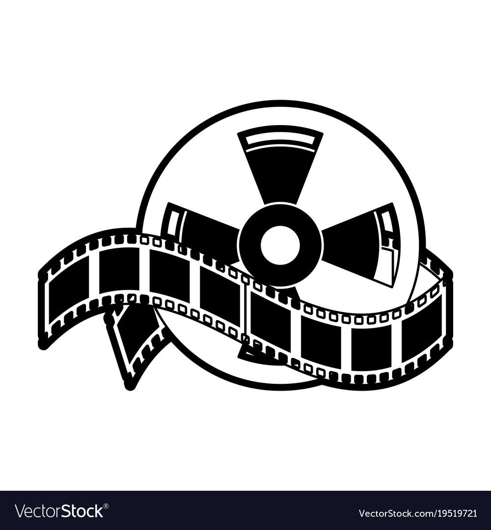 movie roll reel royalty free vector image vectorstock rh vectorstock com film reel vector image movie reel vector