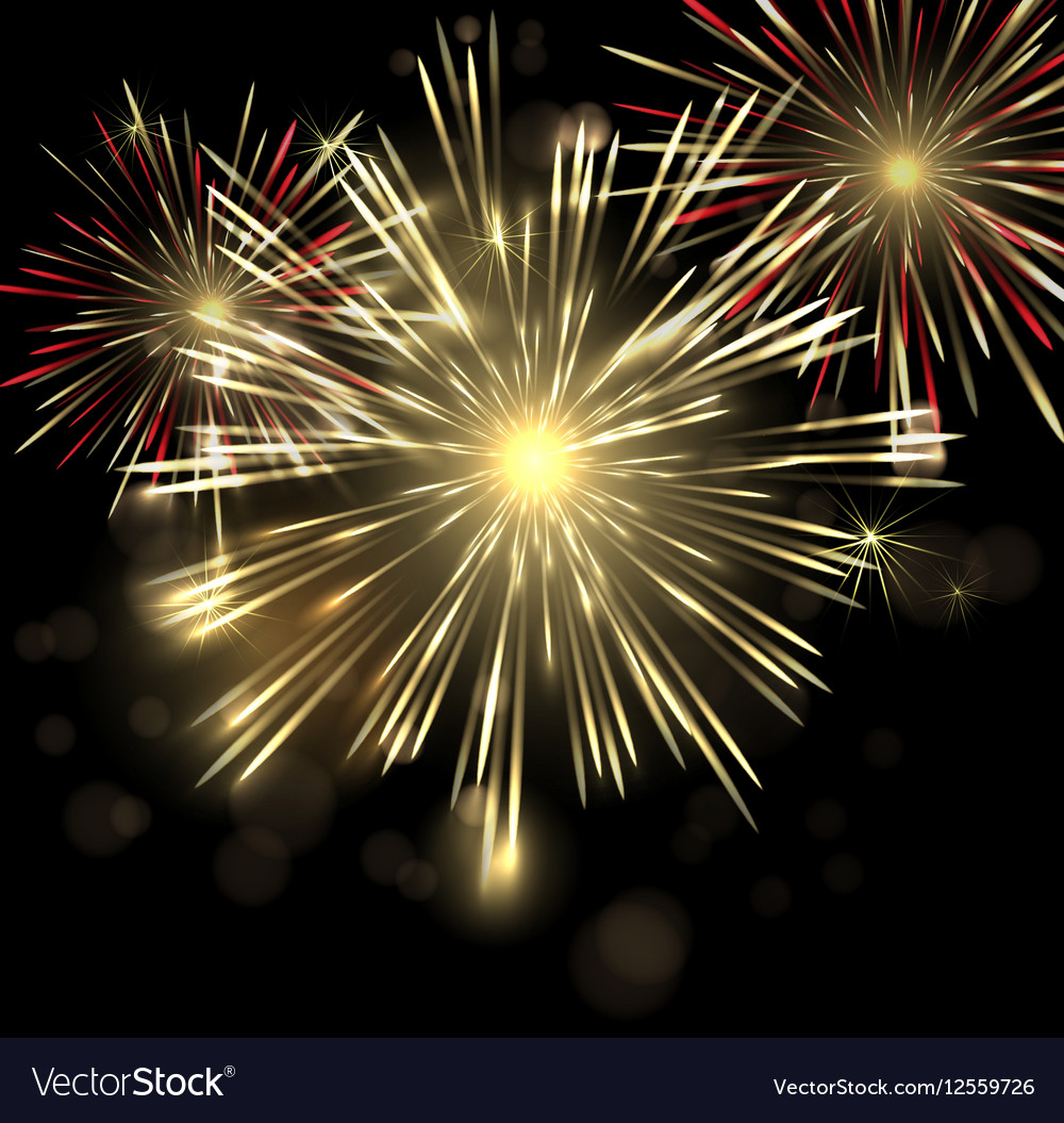 Abstract Holiday Fireworks Background for
