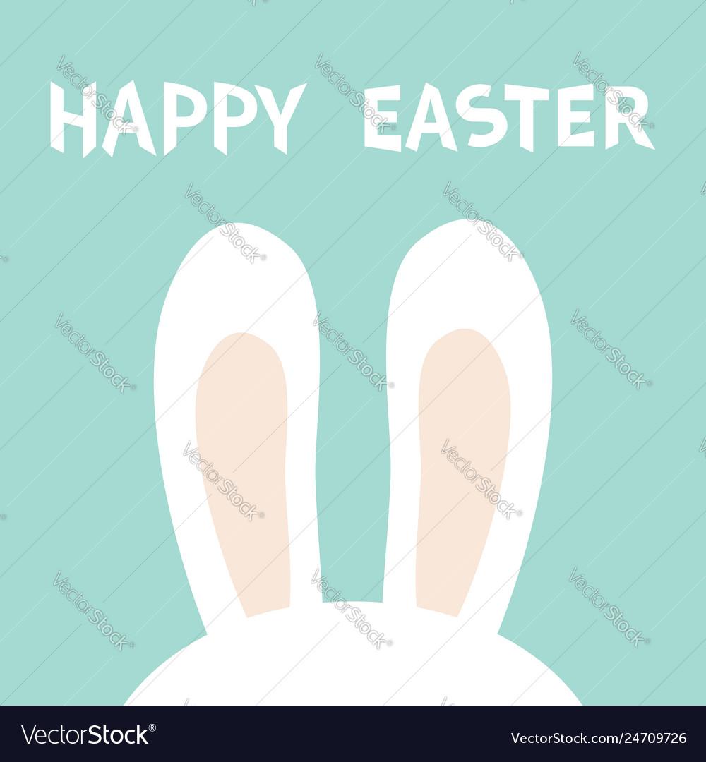 Rabbit bunny ears hidden head face happy easter