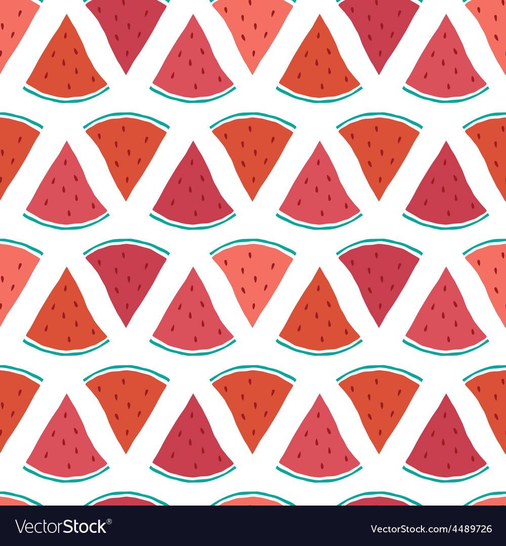 Tasty watermelon slices seamless pattern