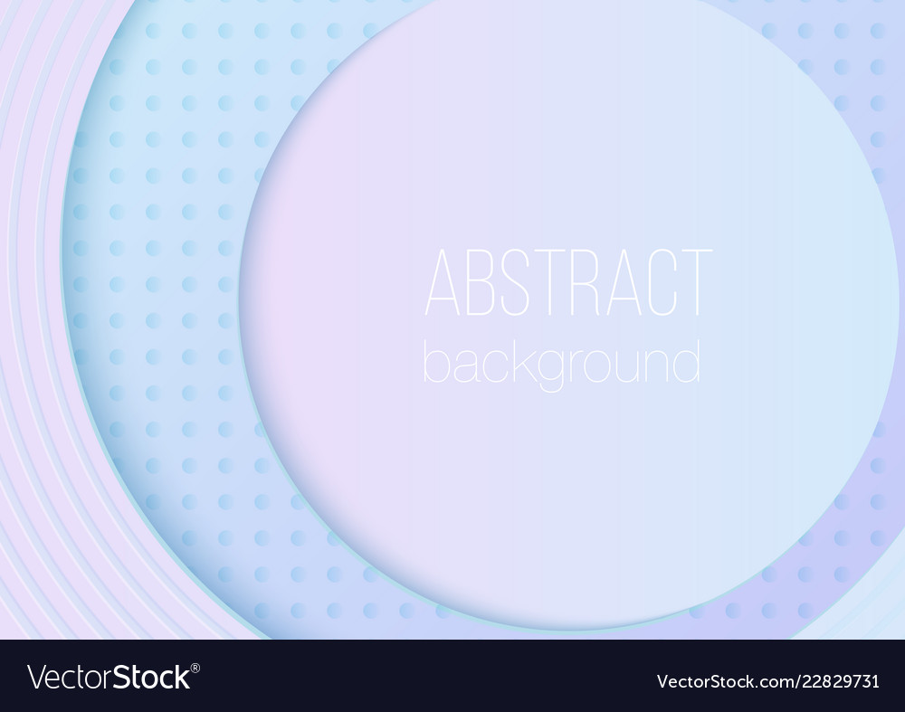Abstract volumetric 3d rounded gradient color