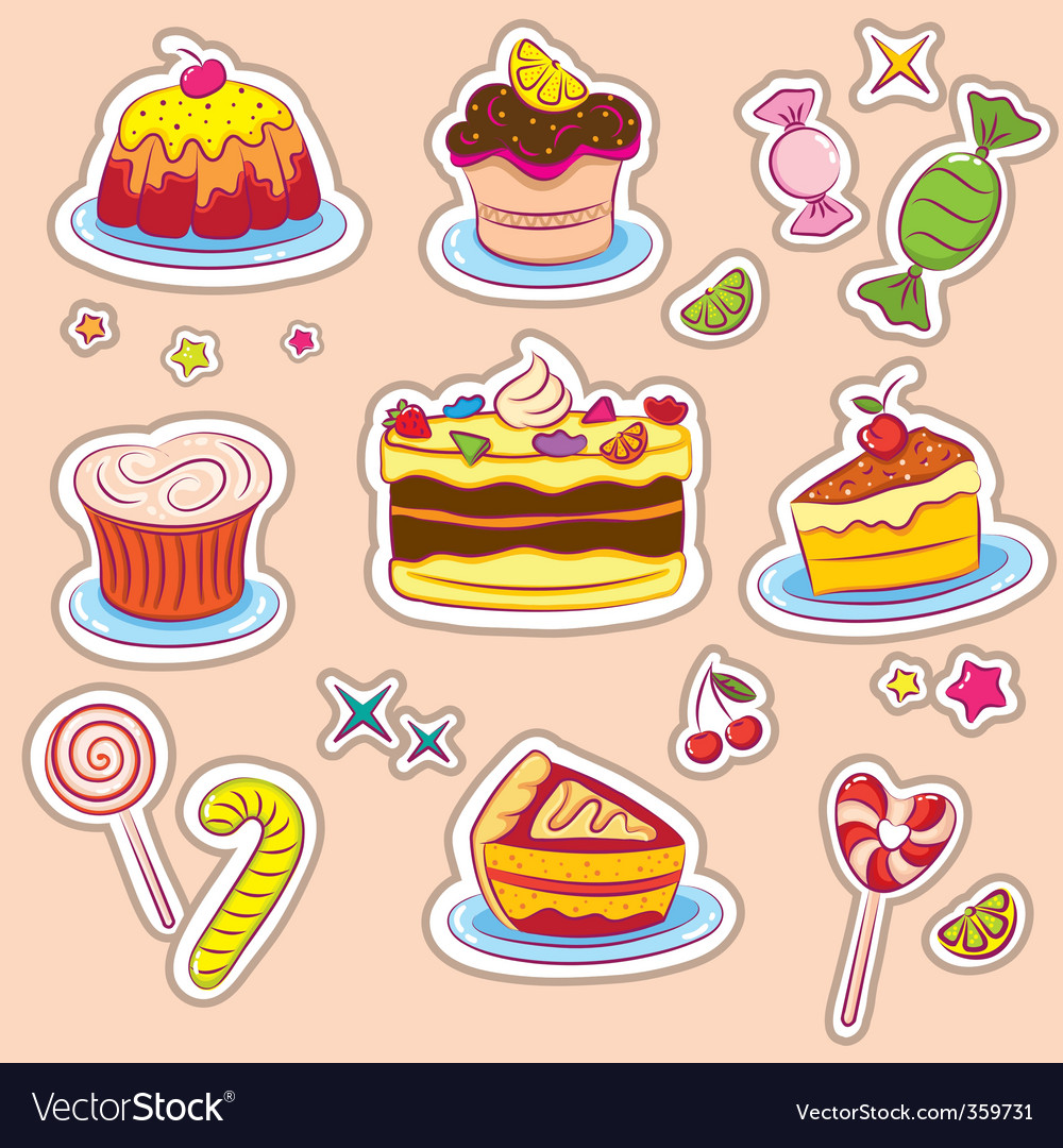 Holiday sweets 2 stickers v