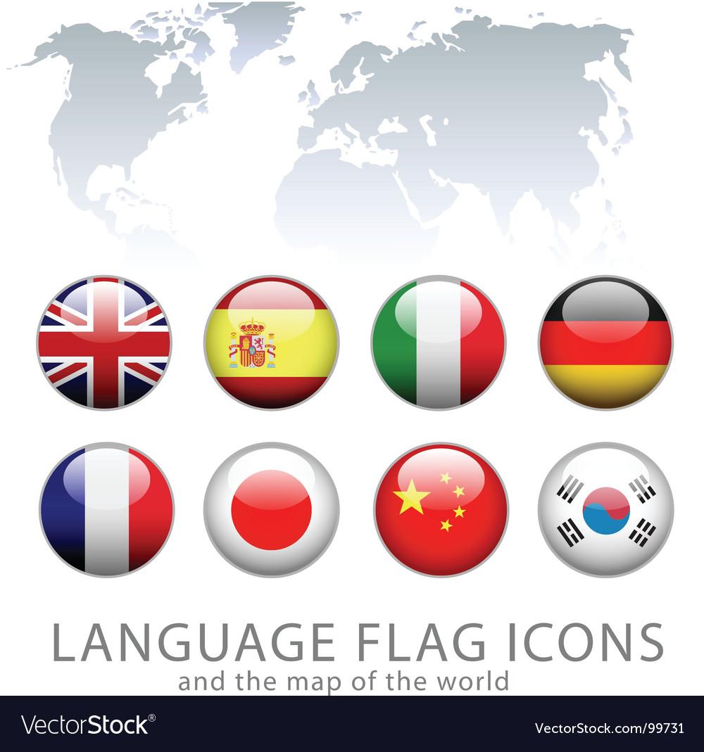 china flag icon. Language Flag Icons Vector