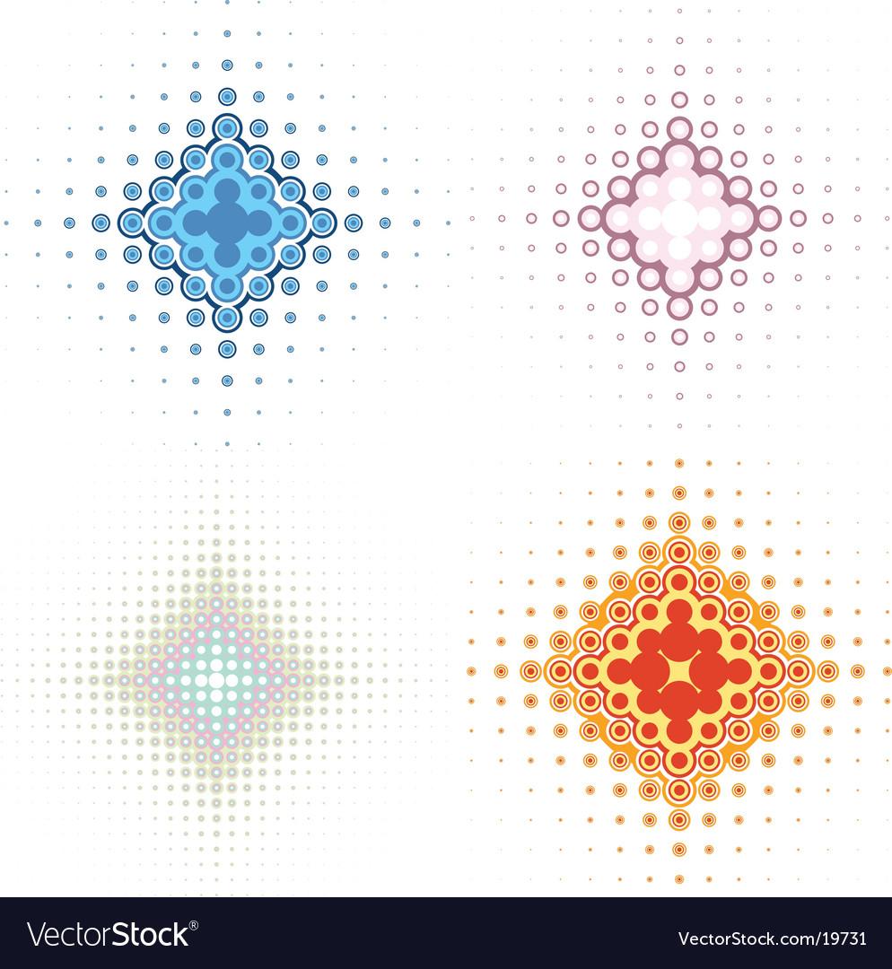 Retro background icons