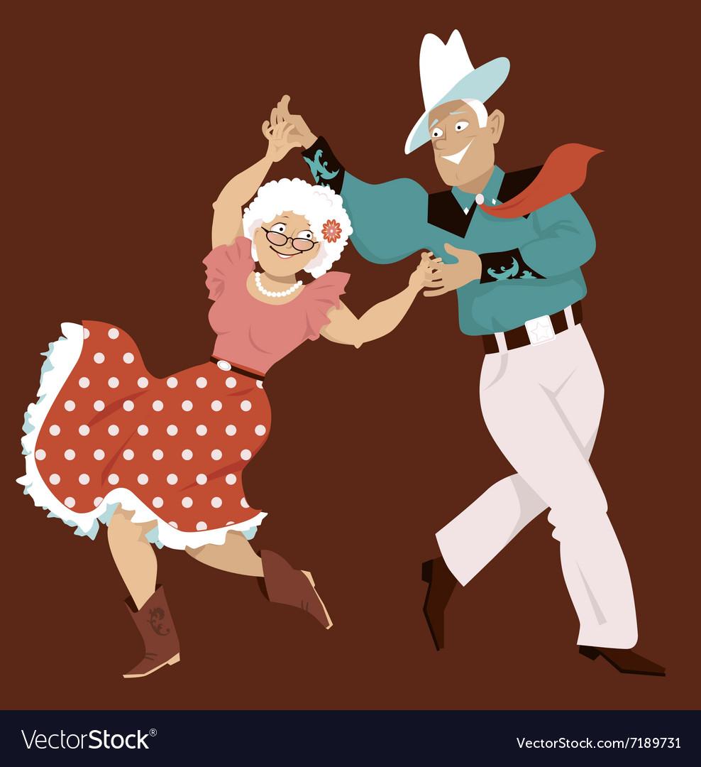 Square dance vector image