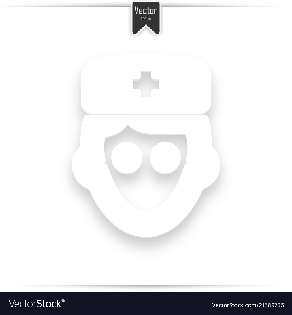 Avatar doctor with flat icon