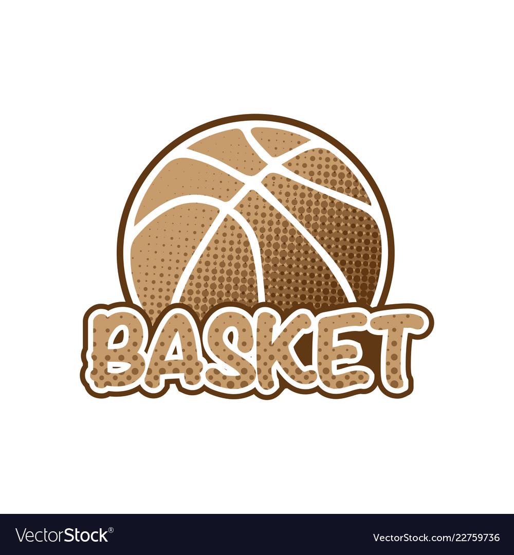 Basketball brown logo
