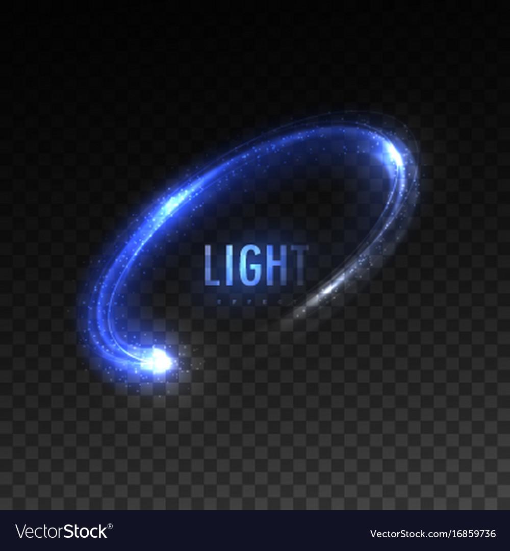 Blue Circular Light Stream Isolated On Vector Image