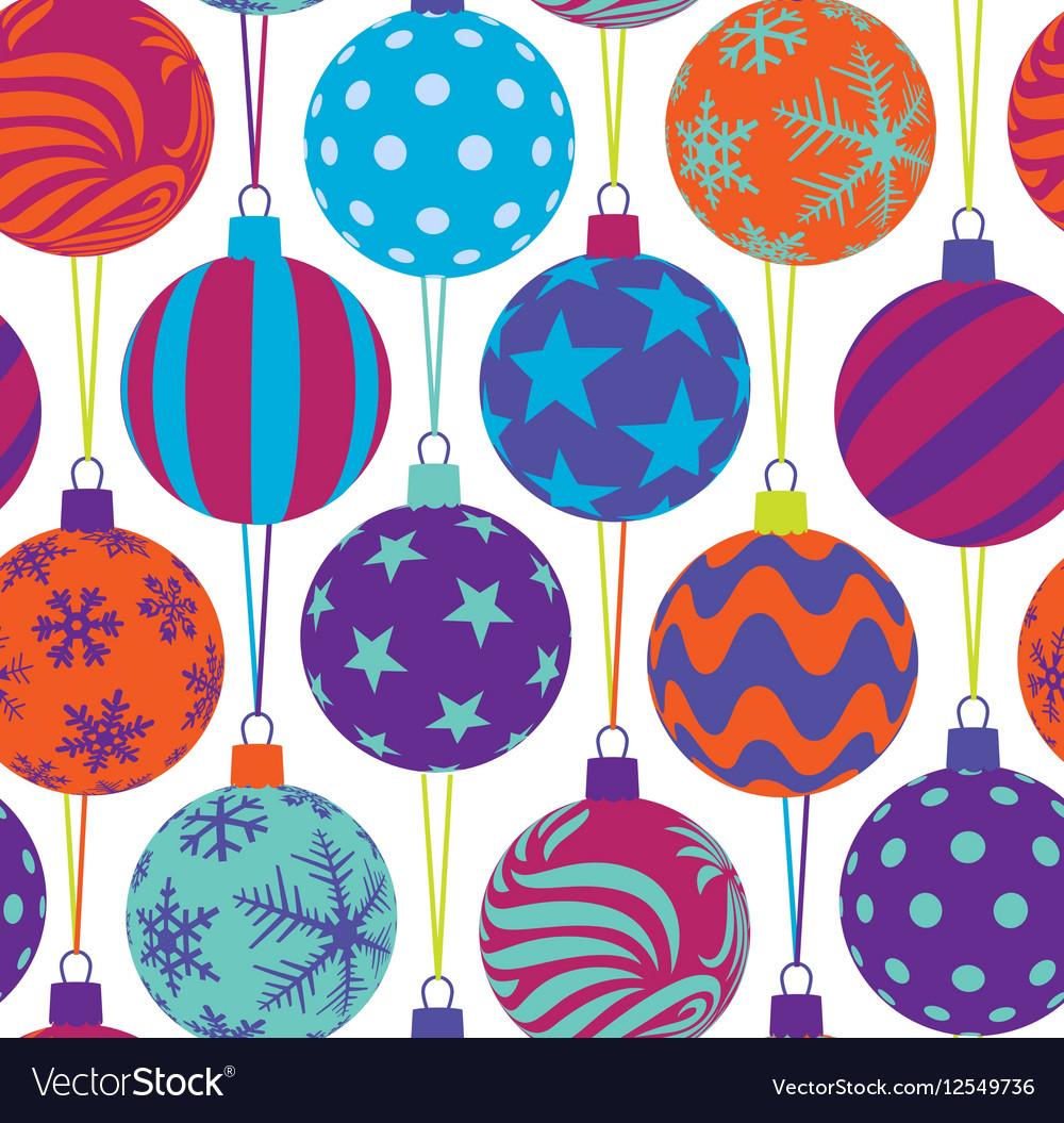 Christmas balls seamless pattern