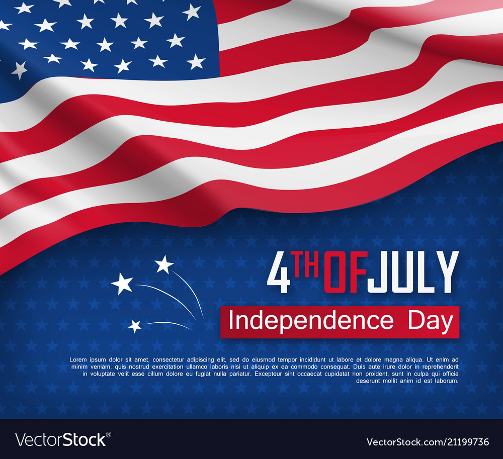 Independence day celebration banner template