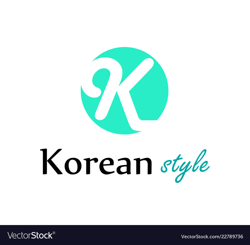 Logo for korean fashion store or web site in style