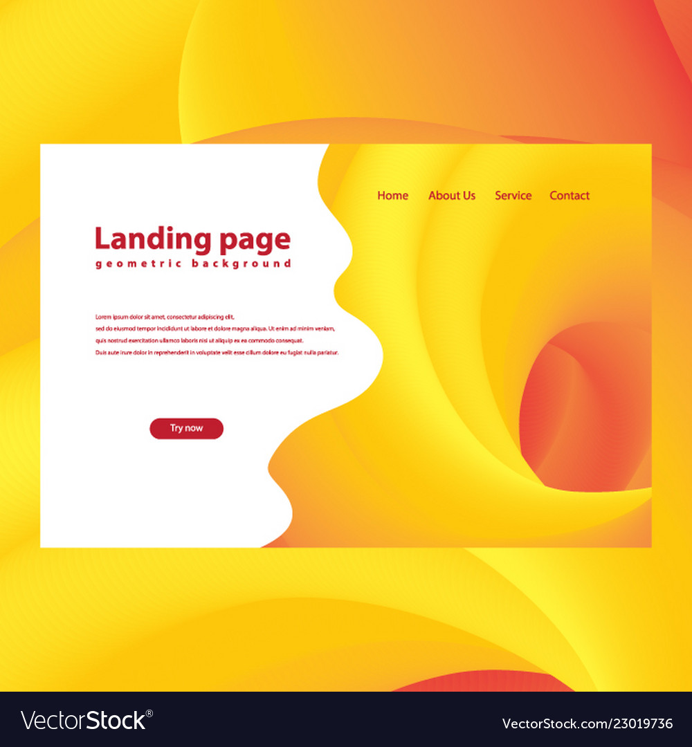 Modern trendy landing page and background
