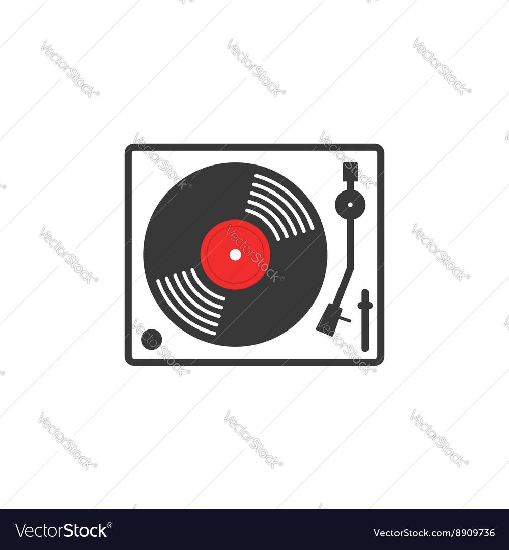 Retro vinyl music player icon