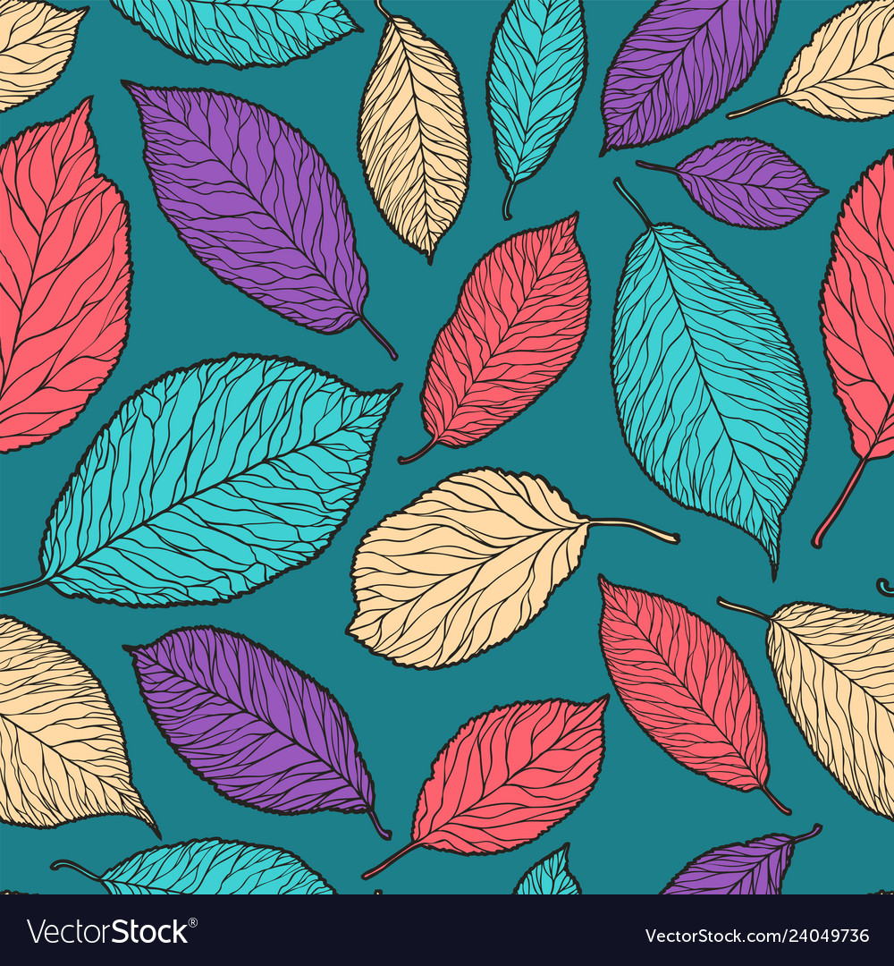 Seamless abstract background decorative leaves