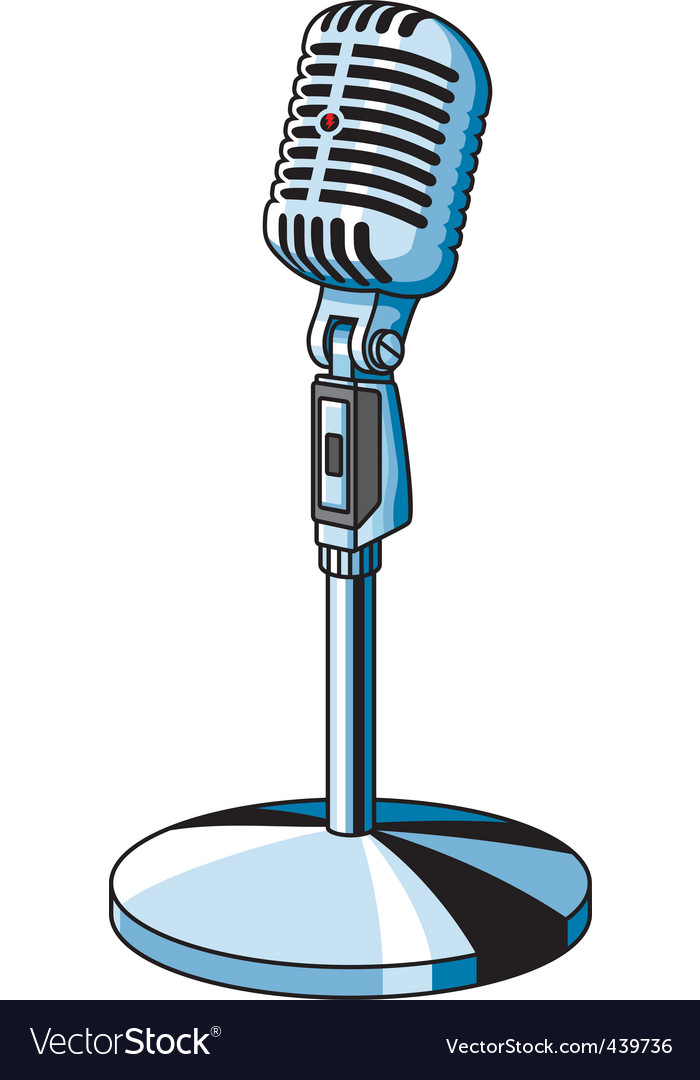 adc6902c1 Vintage microphone Royalty Free Vector Image - VectorStock