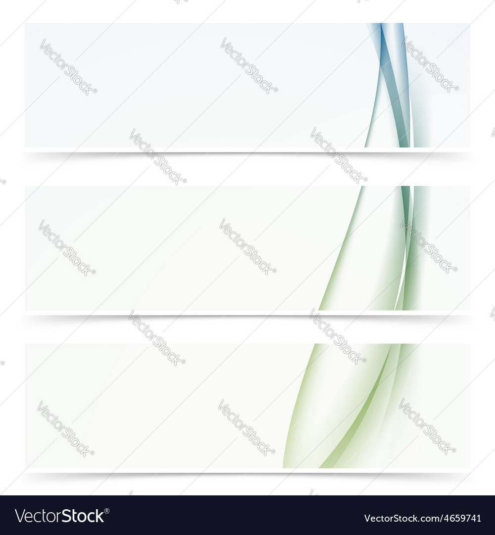 Abstract modern smooth soft wave line header vector image