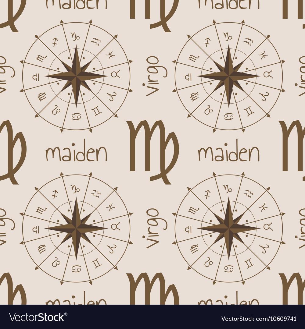 Astrology sign Maiden Seamless pattern