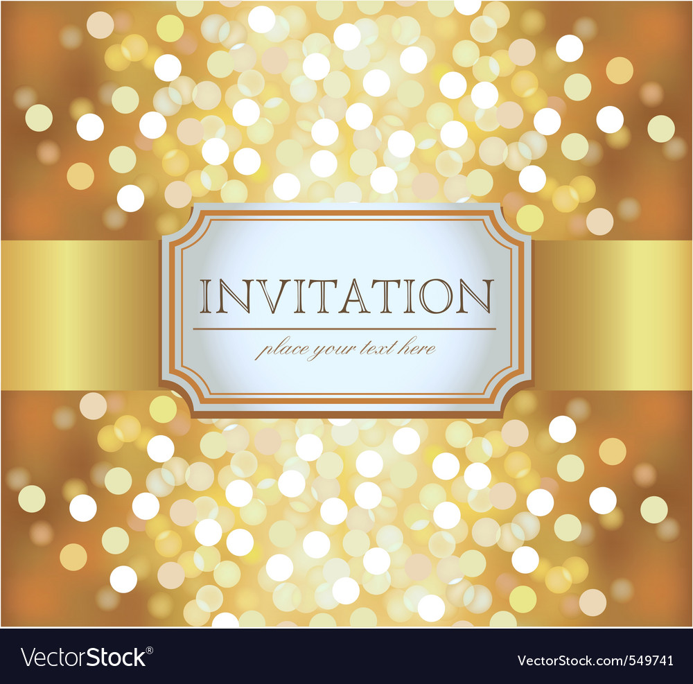 Golden invitation royalty free vector image vectorstock golden invitation vector image stopboris Choice Image