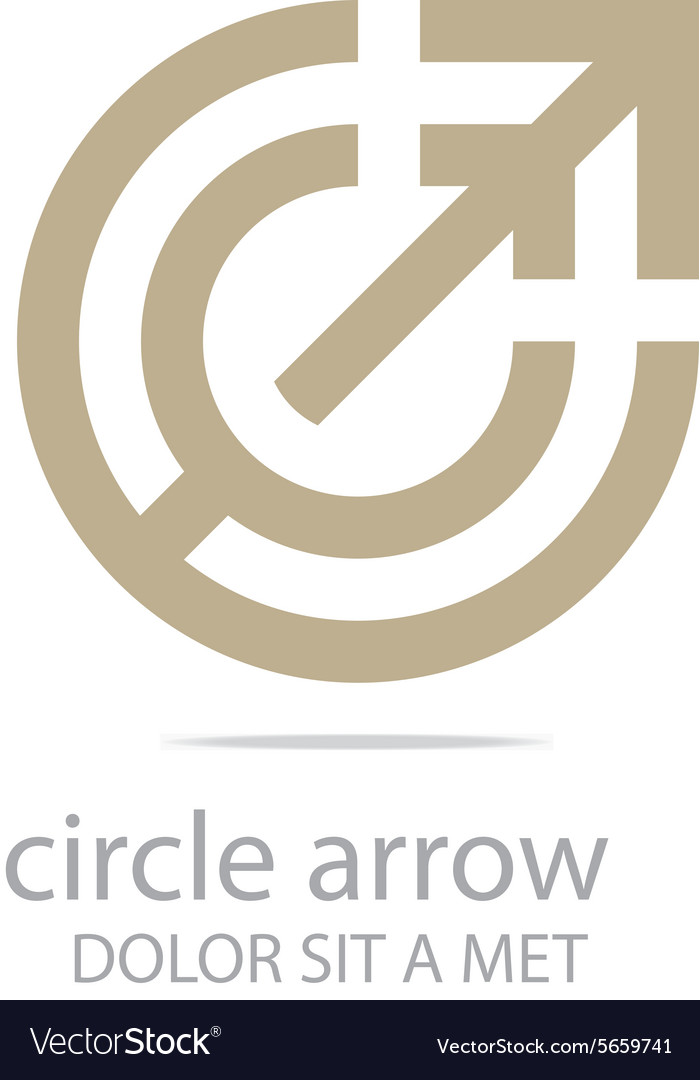 Letter C Logo Design Arrow Icon Symbol Abstract Vector Image