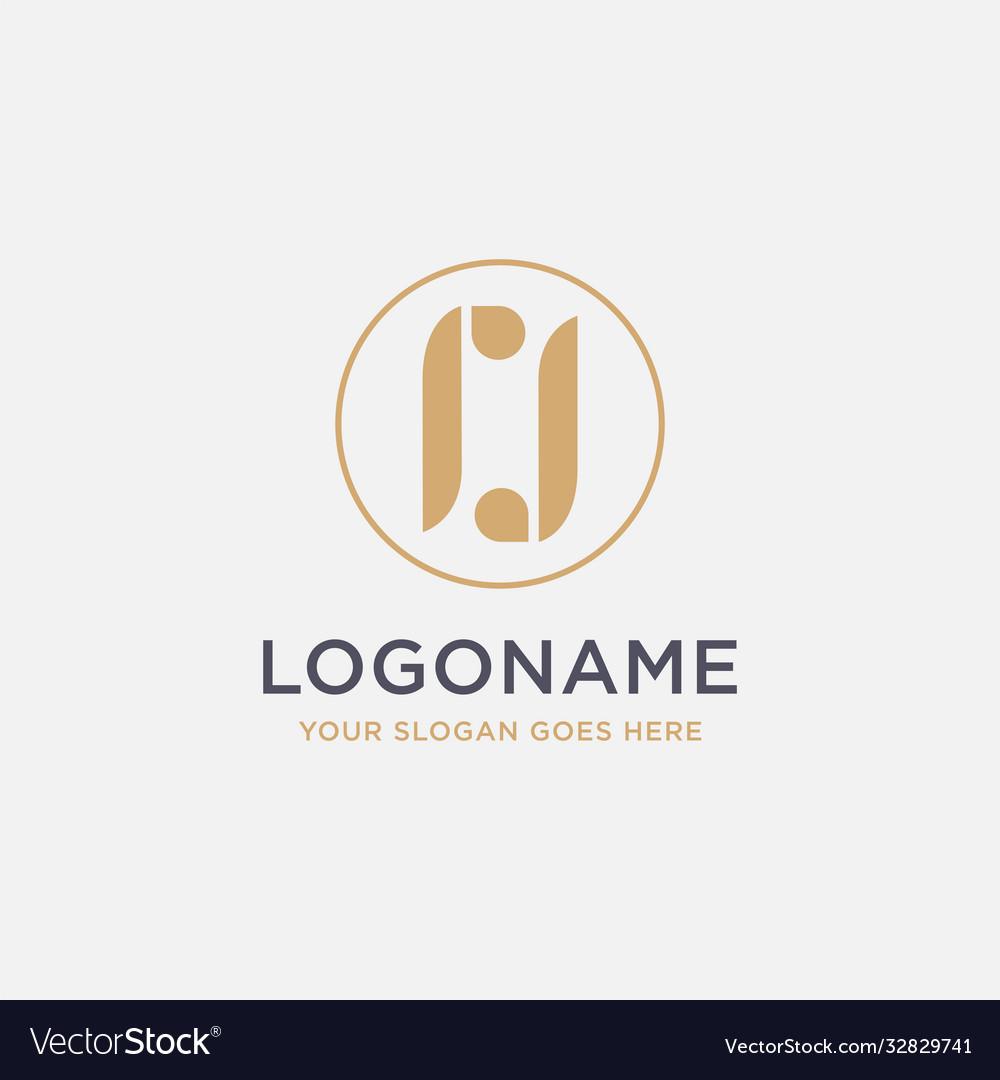 Monogram letter rj logo icon template